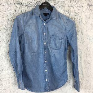 J. Crew Chambray Button Shirt Size 4